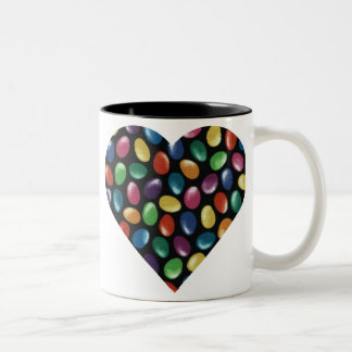 Jelly Bean Heart Two-Tone Coffee Mug