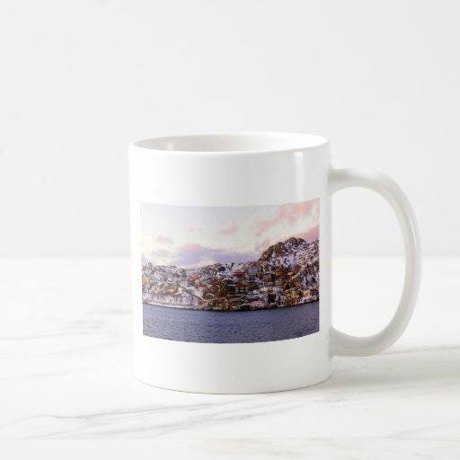 Jelly Bean Houses Painted By Sunset Coffee Mug