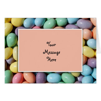 Jelly Bean Invitation Template Greeting Card