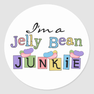 Jelly Bean Junkie T-shirts and Gifts Classic Round Sticker