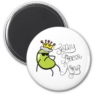 Jelly Bean King 2 Inch Round Magnet