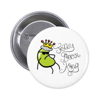 Jelly Bean King Pinback Button