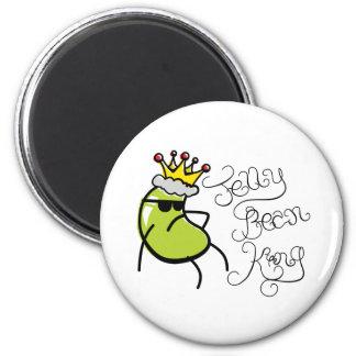 Jelly Bean King Fridge Magnet