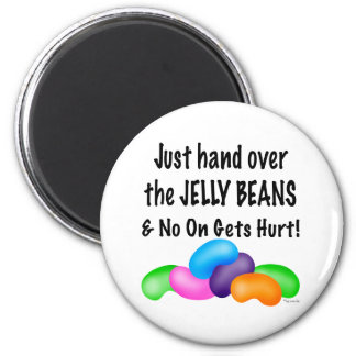 Jelly Bean 2 Inch Round Magnet