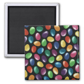 Jelly Bean 2 Inch Square Magnet