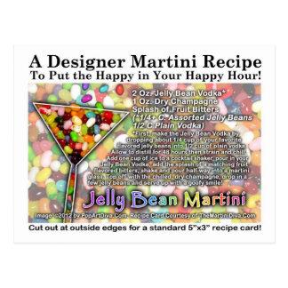 Jelly Bean Martini Recipe Postcard