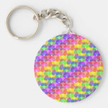 Jelly Bean Parade Basic Round Button Keychain