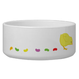 Jelly Bean Pooping Chick Dog Bowls