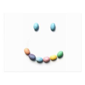 Jelly Bean Smiley Face Postcard