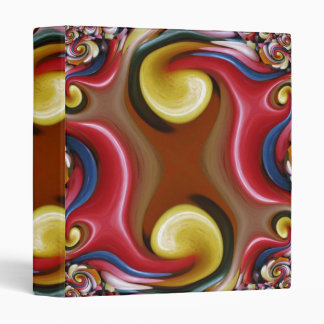 Jelly Bean Swirl Fractal Binder