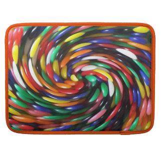 jelly Bean Swirl Sleeves For MacBooks