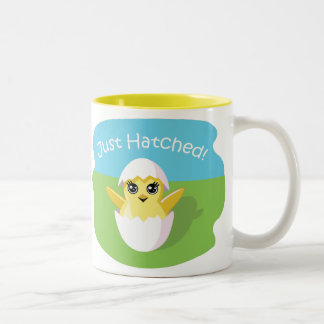 Jelly Bean the Chick - Just Hatched! Two-Tone Coffee Mug