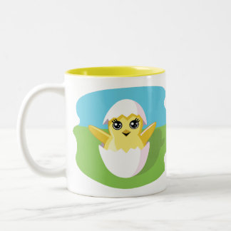 Jelly Bean the Chick Two-Tone Coffee Mug