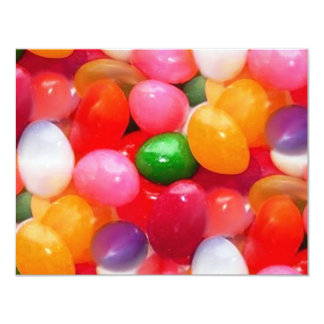 jelly_beans 4.25x5.5 paper invitation card
