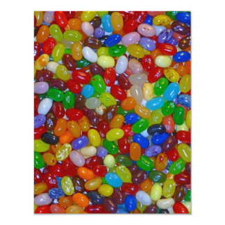 Jelly Beans 4.25x5.5 Paper Invitation Card