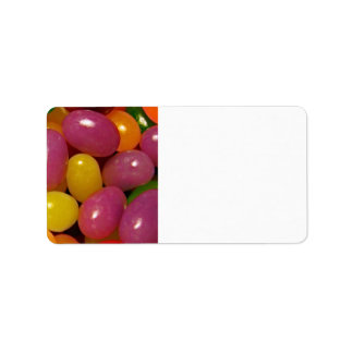 Jelly Beans and Easter Holidays Label
