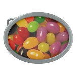 Jelly Beans and Easter Holidays Oval Belt Buckle