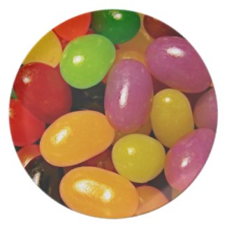 Jelly Beans and Easter Holidays Party Plate