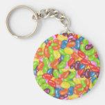 jelly beans basic round button keychain