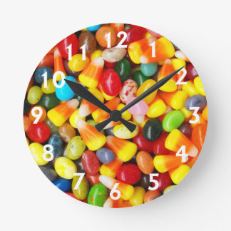 Jelly Beans & Candy Corn Round Clock