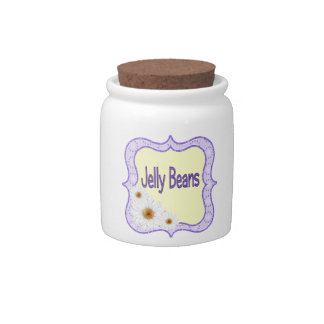 Jelly Beans Canister Storage Container Candy Jar