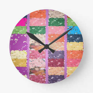 JELLY BEANS Checkered Artistic Graphic Sweets Clocks