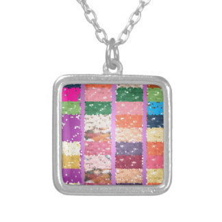 JELLY BEANS Checkered Artistic Graphic Sweets Personalized Necklace