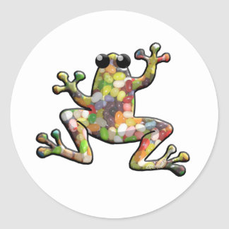 Jelly Beans Frog Classic Round Sticker