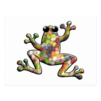 Jelly Beans Frog Postcard