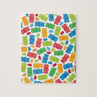 Jelly Beans & Gummy Bears Pattern Jigsaw Puzzle