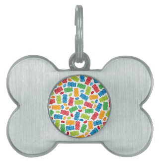 Jelly Beans & Gummy Bears Pattern Pet Tag
