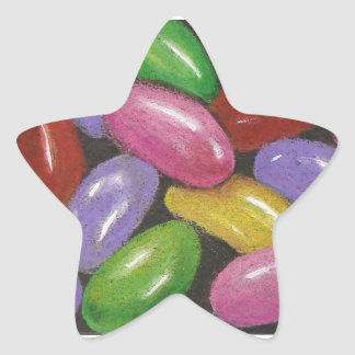 Jelly Beans in Color Pencil: Realism Art Star Sticker