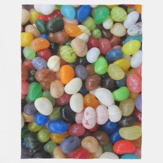 Jelly Beans on Fleece Blanket