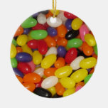 Jelly Beans Double-Sided Ceramic Round Christmas Ornament