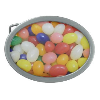 Jelly Beans Oval Belt Buckle