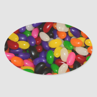 Jelly Beans Oval Sticker