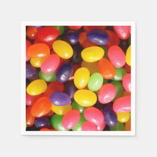 Jelly beans paper napkin