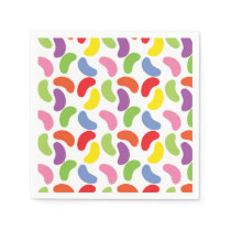 Jelly Beans Pattern Colorful Cute Paper Napkin