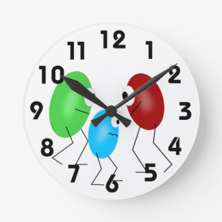 Jelly Beans Round Clock