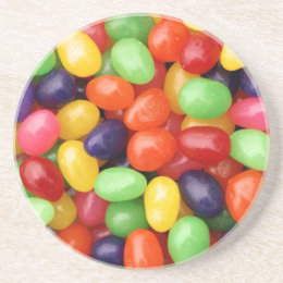 Jelly beans sandstone coaster
