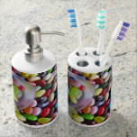 Jelly Belly Bathroom Set Toothbrush Holder & Soap