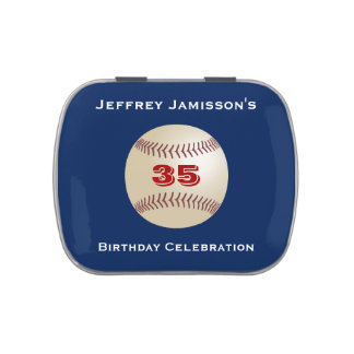 Jelly Belly Candy Tin Baseball Party Favor 35 Yrs
