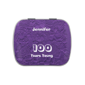 Jelly Belly Candy Tin Party Favor 100 Years Young
