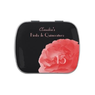 Jelly Belly Candy Tin Party Favor Quinceañera 15