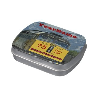 Jelly Belly Candy Tin Train Party Favor 75 Years