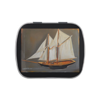 Jelly Belly candy Tin with Sailboat