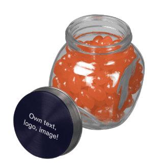 Jelly Belly™ Glass Jar dark blue