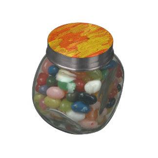 Jelly Belly im Glas abstrakt gelb orange Jelly Belly Candy Jar