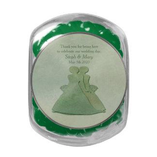 Jelly Belly Jar Green Mint Rustic Lesbian Wedding Glass Candy Jar