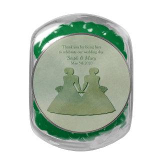 Jelly Belly Jar Green Mint Rustic Lesbian Wedding Jelly Belly Candy Jar